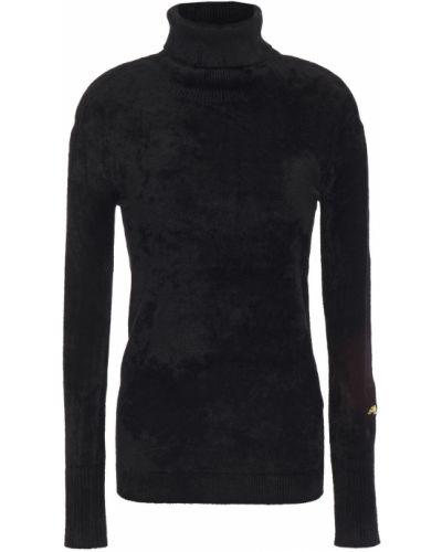 Черный вязаный свитер с вышивкой Bella Freud