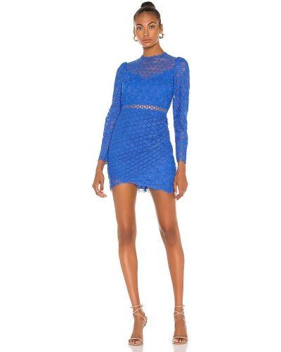 Синее платье с вышивкой с подкладкой Saylor