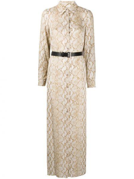 Платье макси на пуговицах с поясом Michael Michael Kors