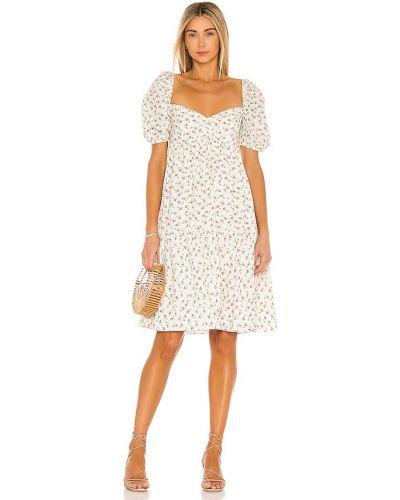 Beżowa sukienka z wiskozy Selkie