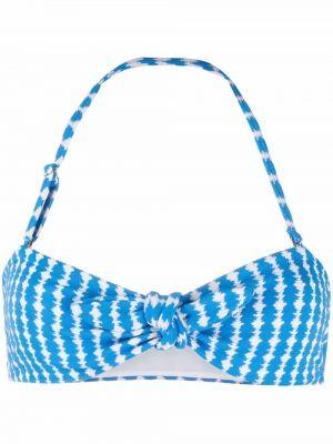 Пляжный синий лиф бандо Lemlem