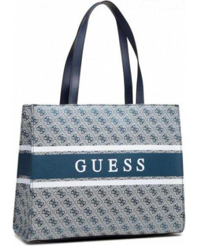 Синяя сумка-тоут из искусственной кожи Guess