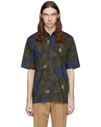 Koszula krótkie z krótkim rękawem z kołnierzem z nadrukiem Dries Van Noten