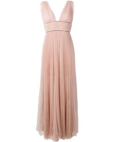 Вечернее платье с открытой спиной - розовое Maria Lucia Hohan