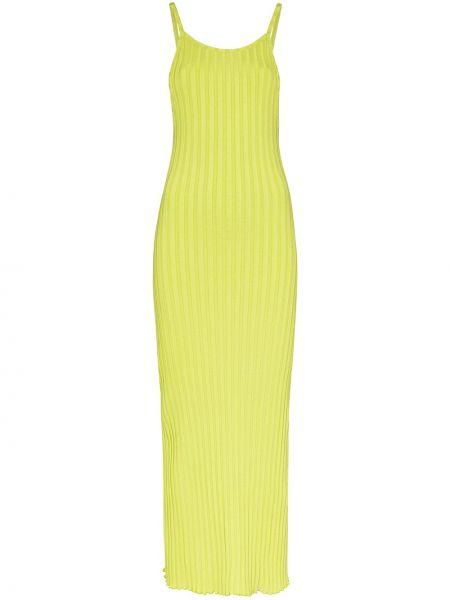 Sukienka midi bez rękawów - zielona Simon Miller