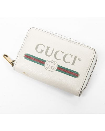 Portfel skórzany - biały Gucci Vintage