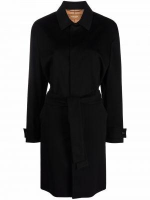Черное прямое пальто Agnona
