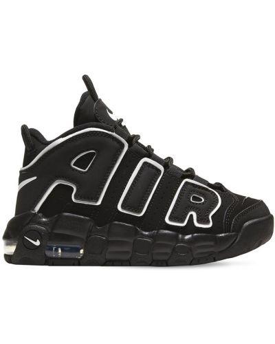 Koronkowa skórzany czarny sneakersy Nike