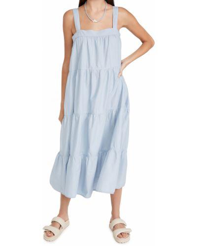 Хлопковое платье с карманами с декольте Nation Ltd
