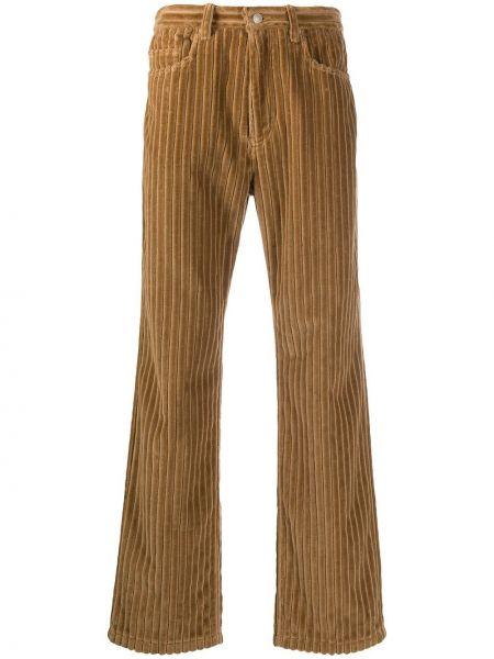 Spodnie sztruksowe z paskiem Ami