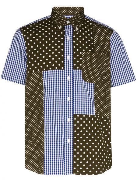 Синяя деловая рубашка с заплатками с карманами Sophnet.