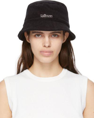 Czarna czapka bawełniana Miaou