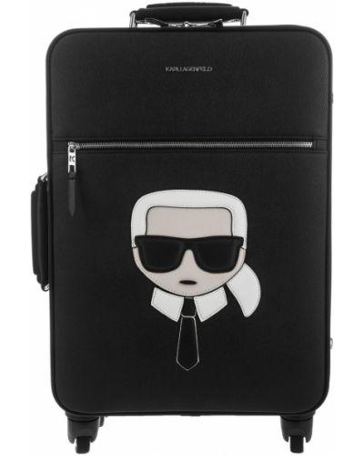 Черный чемодан из искусственной кожи Karl Lagerfeld