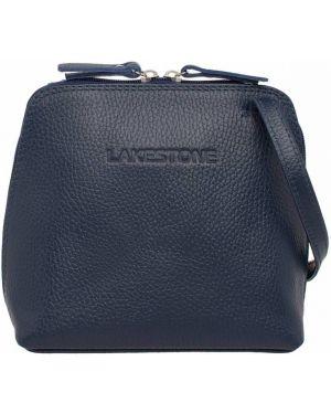 Кожаная сумка вечерняя шелковая Lakestone