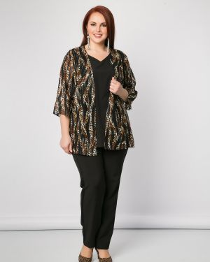Блузка с леопардовым принтом с разрезом Dora