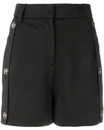 Однобортные черные шорты на пуговицах Versus