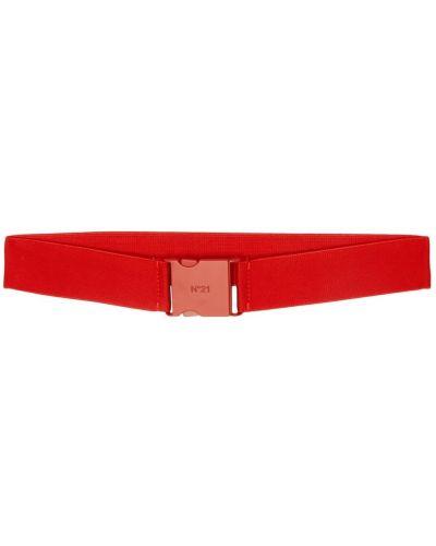 Красный текстильный широкий ремень свободного кроя No.21