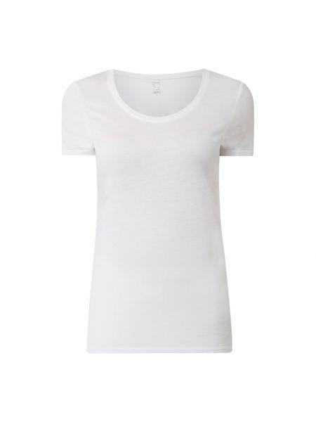 Biały t-shirt bawełniany na co dzień Jake*s Casual