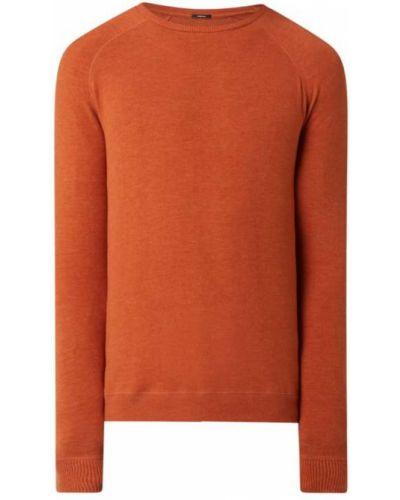 Pomarańczowy sweter bawełniany Denham