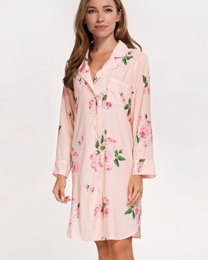 Домашнее розовое платье German Volf