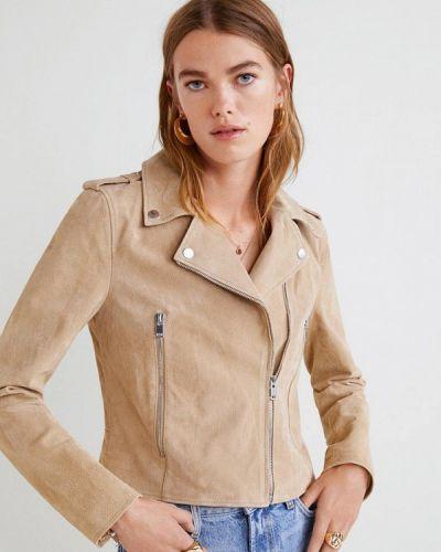 Осенняя куртка кожаная Mango