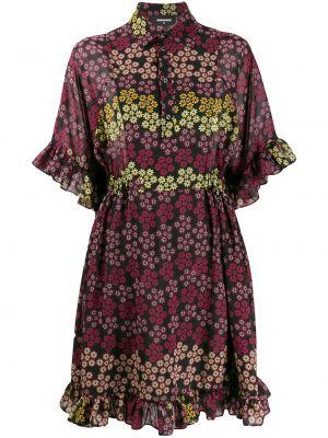 Платье мини на пуговицах с цветочным принтом Dsquared2