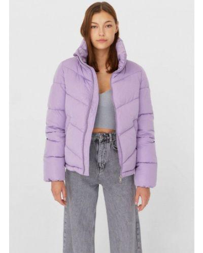 Теплая фиолетовая утепленная куртка Stradivarius