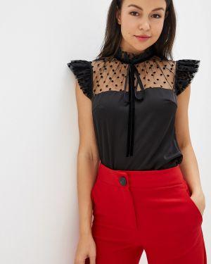 Блузка с коротким рукавом весенний черная Gepur