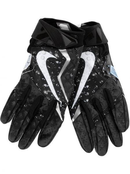 Czarne rękawiczki skorzane Supreme