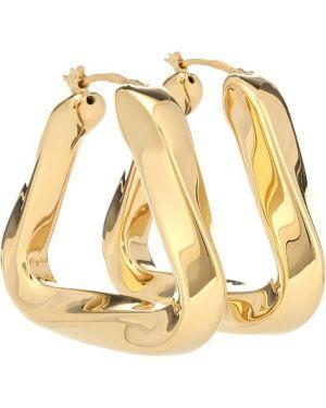 Серебряные серьги золотые жёлтые Bottega Veneta