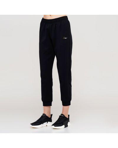 Черные трикотажные спортивные брюки с карманами Anta