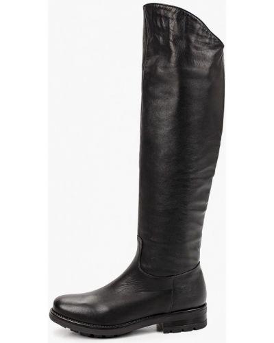 Черные кожаные ботфорты Enzo Logana