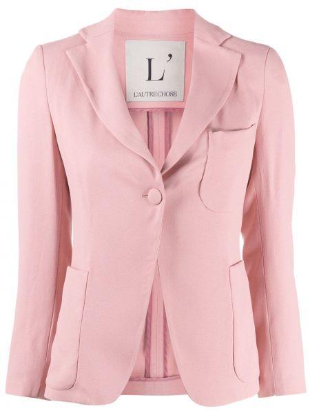 Приталенный удлиненный пиджак с карманами L'autre Chose
