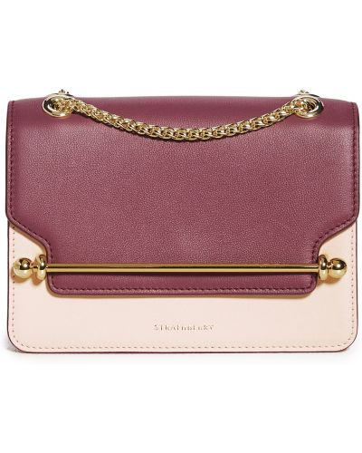 Różowa torebka na łańcuszku skórzana Strathberry