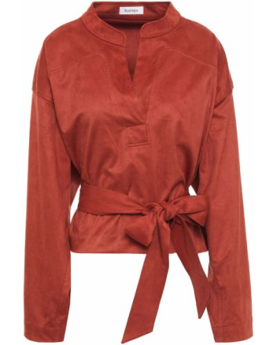 Bluzka z paskiem zamszowa Rodebjer