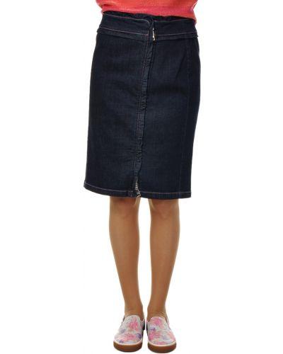 Хлопковая юбка - синяя Sonia Rykiel