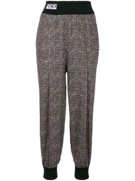 Черные спортивные брюки с карманами с манжетами Fendi