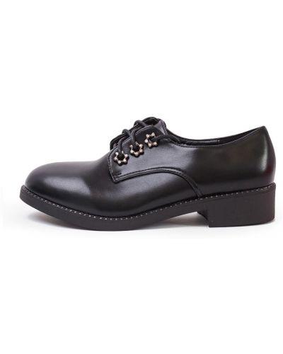 Туфли на каблуке черные кожаные Lacywear