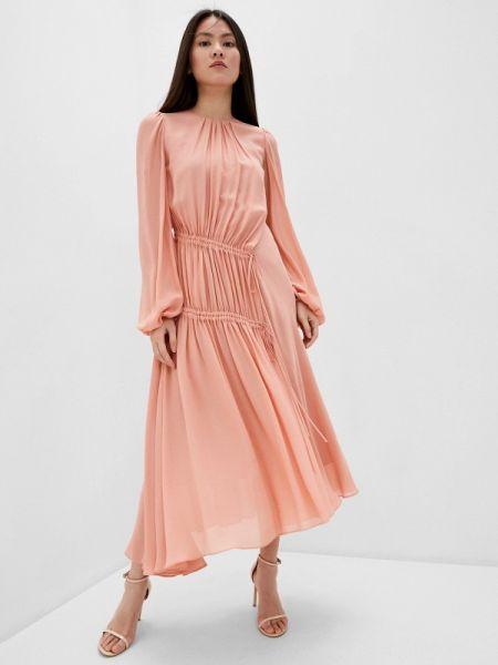 Вечернее розовое вечернее платье N°21