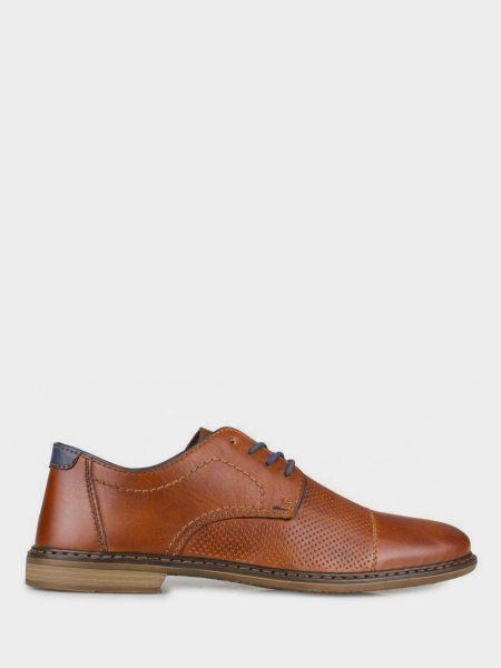 Кожаные туфли - коричневые Rieker