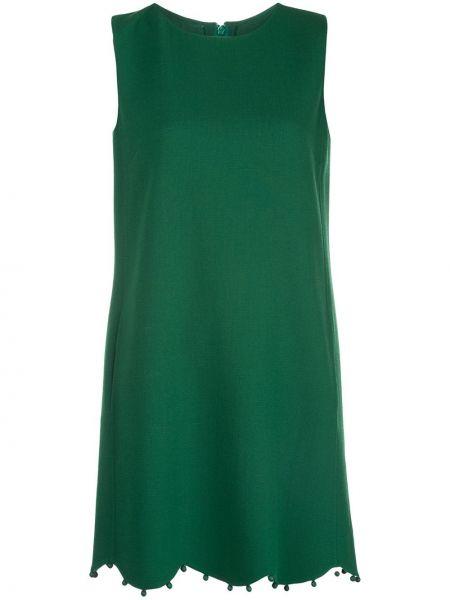 Платье без рукавов с вырезом на молнии с карманами Oscar De La Renta