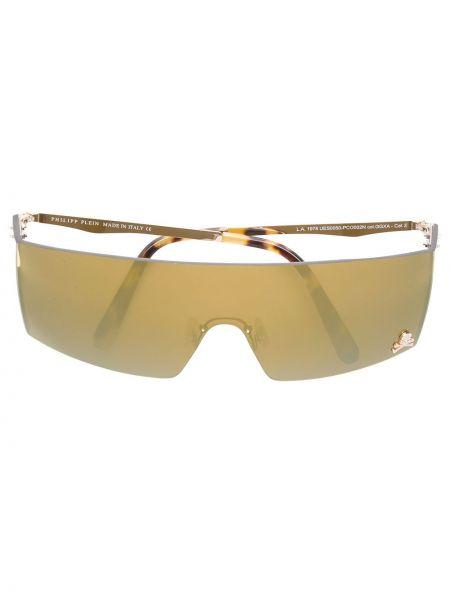Szare złote okulary miejskie Philipp Plein
