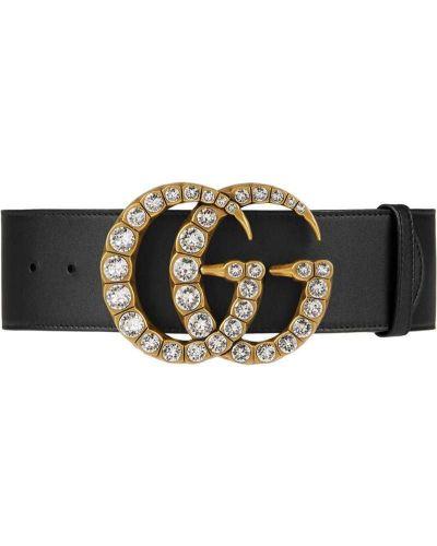 Ремень с логотипом черный Gucci