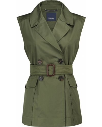 Зеленая ватная куртка без рукавов 's Max Mara