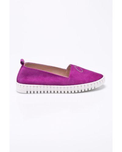 Кожаные туфли на каблуке Carinii