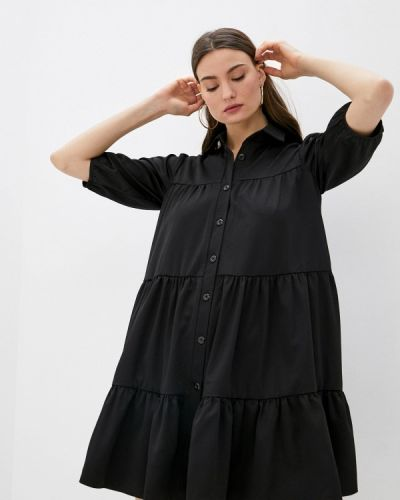 Черное платье-рубашка Trendyangel