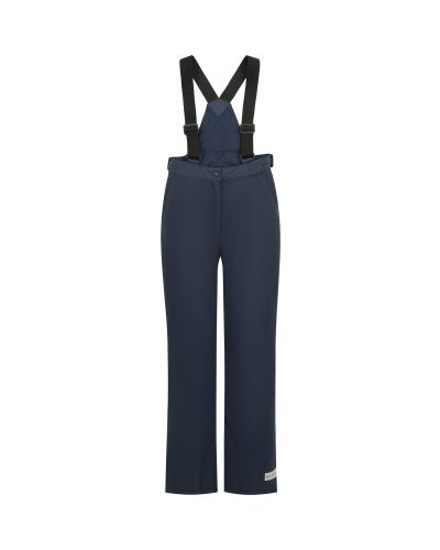Прямые синие утепленные спортивные брюки Glissade