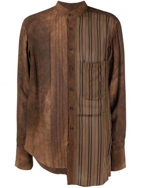 Koszula z długim rękawem z paskami z kieszeniami Ziggy Chen