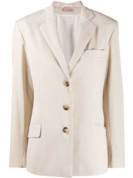 Приталенная классическая куртка с лацканами на пуговицах Nehera