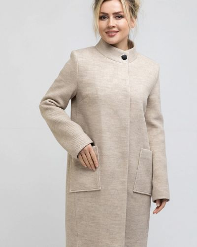 Пальто демисезонное бежевое Rosso-style
